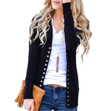 Women Coat 2020 Fashion Ladies Button Long Sleeve Sweater Knitwear Soft Basic Knitted Cardigan Tops