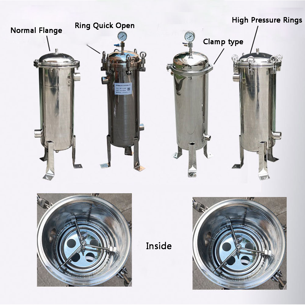 Bag Filter Stainless Steel SS304 High Precion Big Flow Industrial Pipe Water Oil Diesel Lacquer Sediment Beer Filter Single Bag