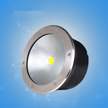 Rgb COB LED Waterproof IP68 Outdoor Floor Light Buried Lamp Stainless Steel Glass Recessed Pedestrian Street Mall DC12V Warm Led