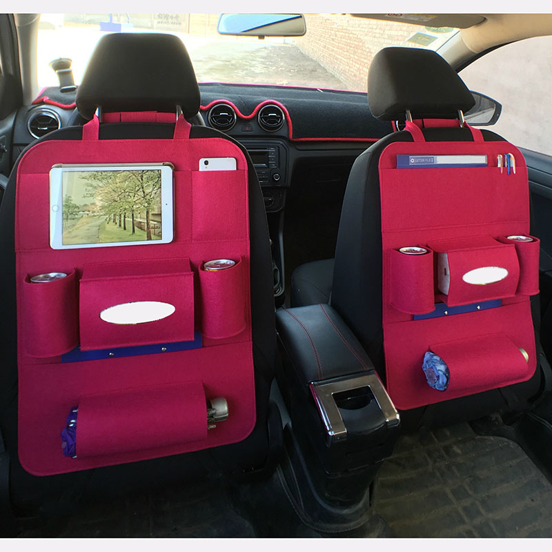 Car Back Seat Storage Bag Bottle Magazine Tissue Food Phone Automobile Organizer Cars Backseat Cover Multi-Pocket Holder