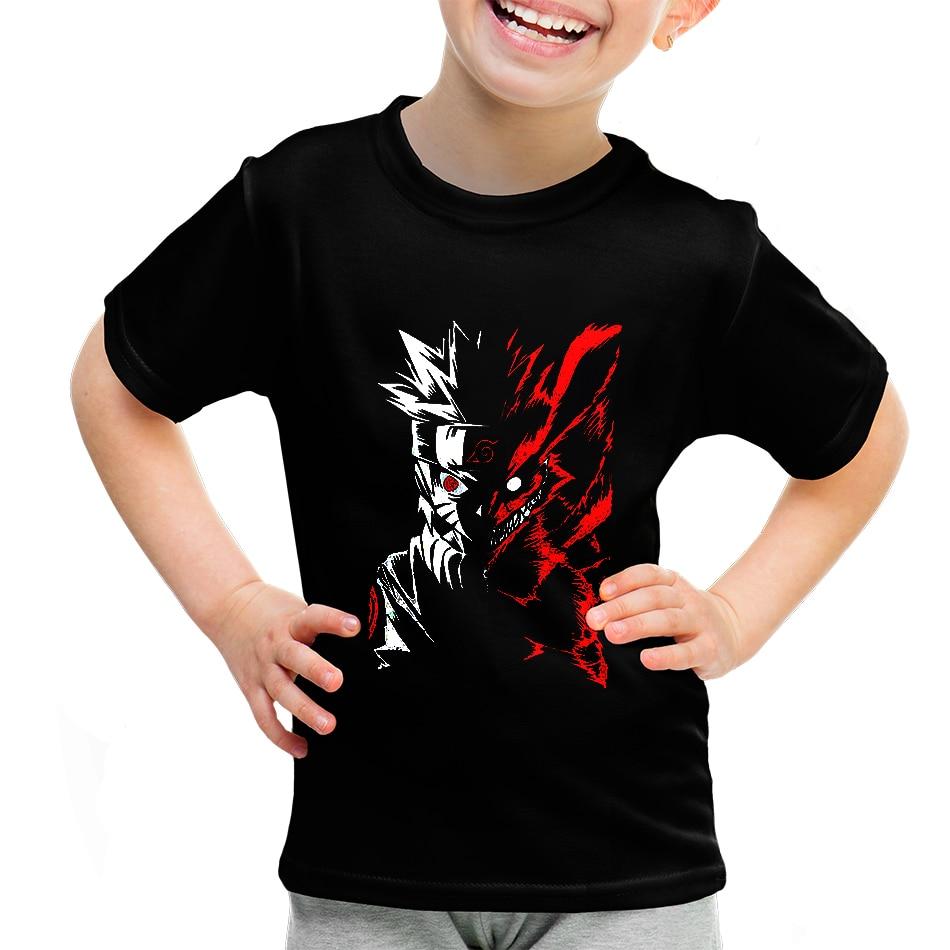 Toddler Baby Boy T-shirt, Naruto Printed Sleeve Flower T-shirt, Children Hip-hop Rock Tshirt, Toddler Baby Shirt Short Sleeve
