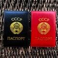 Русский, СССР, Обложка для паспорта, кожаные чехлы для паспорта СССР держатель для карт Для мужчин паспорта Обложка для СССР паспорт