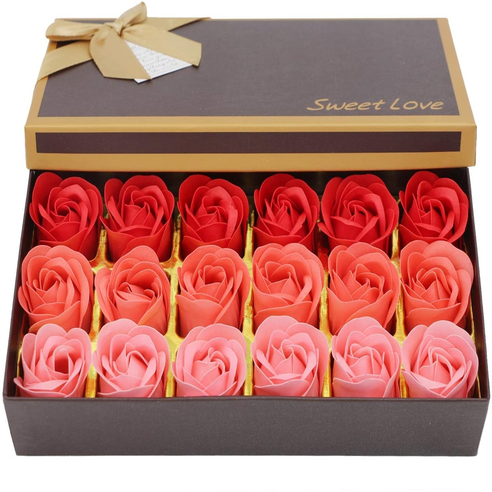 18 pçs scented rosa flor pétala banho corpo sabão festa de casamento presente flor de jabon casa decoração segurando flores