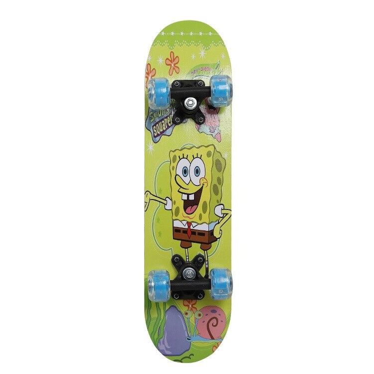 SKD Maple Skateboard CHILDREN'S Cartoon Double Snubby Scooter Aluminum Holder Skateboard Adult Vigor Board