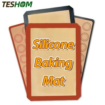 Premium Non-Stick Silicone Baking Mat Cookie Pad Rolling Dough Mat High Temperature Resistant Glass Fiber Batters Flour Fondant