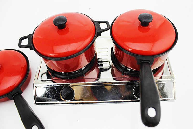 Mini kuchnia dzieci garnek Pan dzieci udawaj gotować zagraj w zabawkę symulacja warzywa owoce naczynia do gotowania zestaw zabawek ZXH