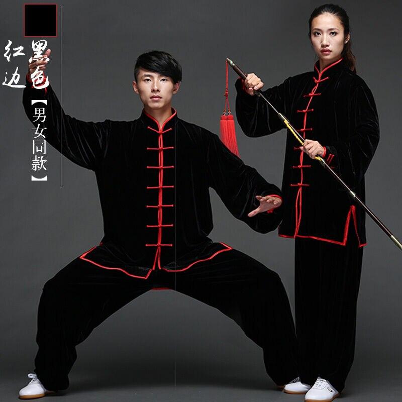 2020 горячие мужчины женщины в китайском стиле кунг фу форма бархат Тай Чи костюмы боевые искусства, ушу Одежда Конкурс уплотняет|Наборы| | АлиЭкспресс