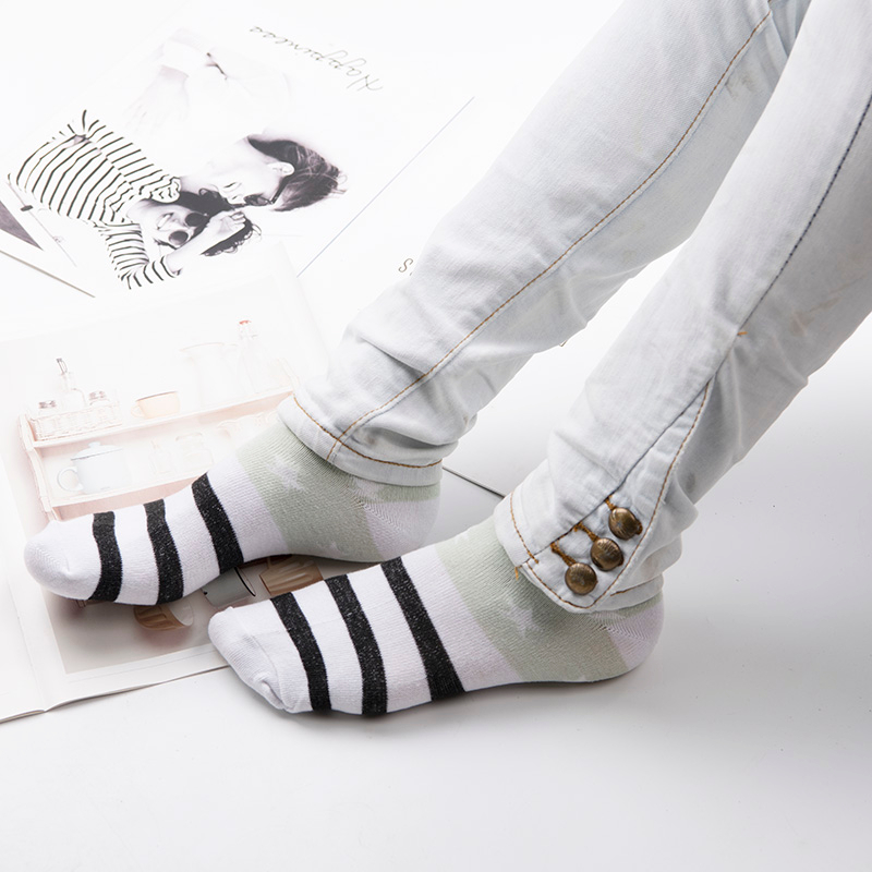 H9a0544c67863469e814149fc80a12bd5k - Cotton Boat Socks Woman Stars Stripe Socks ankle low female invisible color girl boy slipper casual hosiery  1pair=2pcs ws106