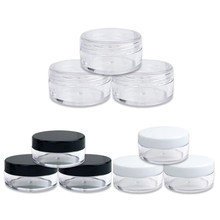 50 sztuk 2g/3g/5g/10g/20g plastikowe słoiczki na kosmetyki pudełko do makijażu pojemniki na akcesoria do paznokci Pot pojemnik wyczyść próbki balsam twarzy butelki na krem