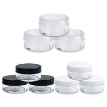50Pcs 2g/3g/5g/10g/20g Plastic Cosmetics Jar Makeup Box Nail Art Storage Pot Container Clear Sample Lotion Face Cream Bottles