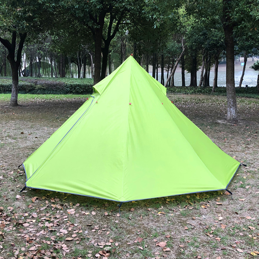 Waterproof Outdoor Pyramid Tent Sun Shade Shelter for Backpacking Camping