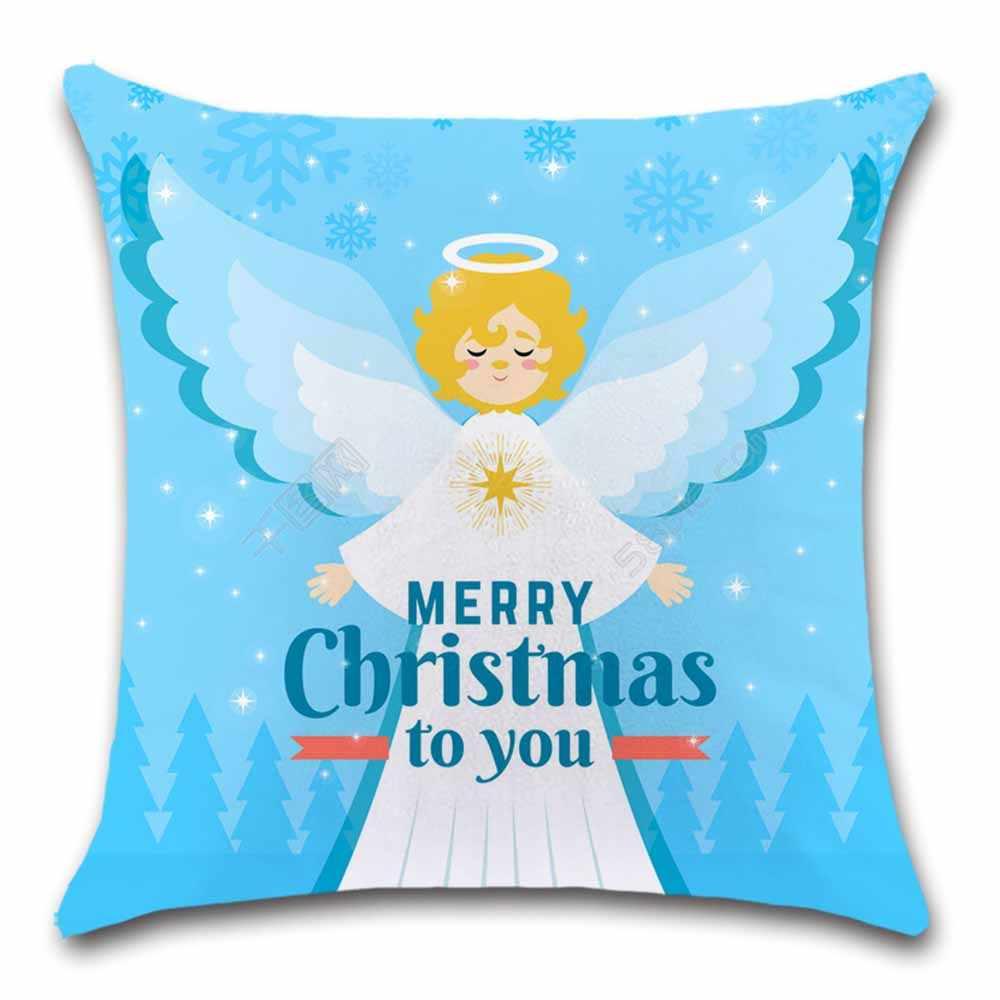 Negozio Di Cuscini.Buon Natale Di Angelo Bianco Fodere Per Cuscini Sedia Arredamento