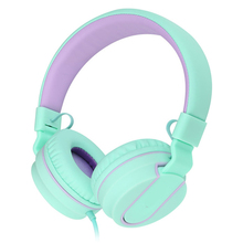 цена на Picun Wired Headphones Over Ear Headset With Microphone Stereo Bass Earphone Adjustable Headphone For Mobile Phone Computer PC