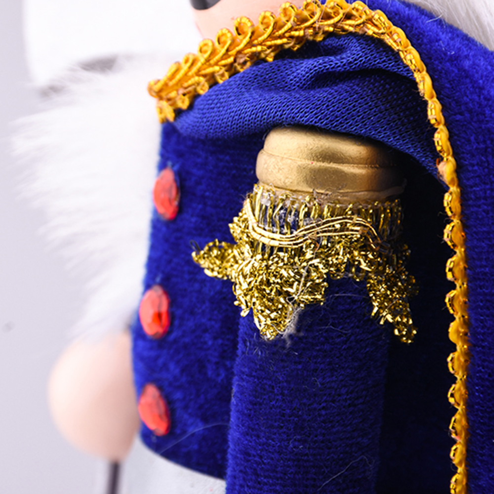 Wooden Pendant Vintage Handcraft Nutcracker Doll Soldier Puppet Home Decoration Ornaments for Parties Gifts 38*11.5*9.6cm NEW