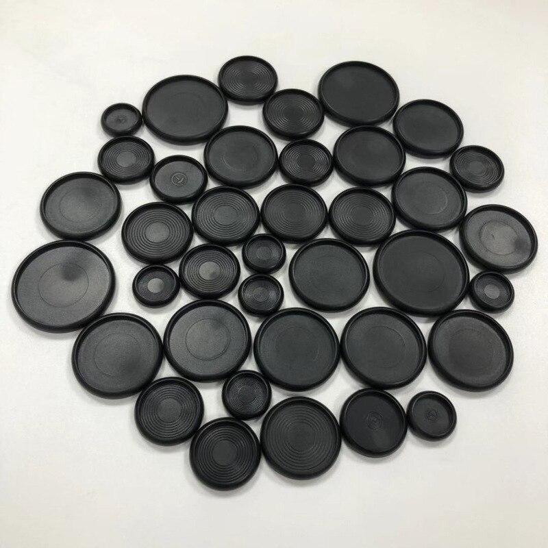 100pcs Notebook Mushroom Hole Button Notepad Plastic Loose-leaf Coil 360 Degree Foldable Plastic Disc Buckle Black Binder Ring