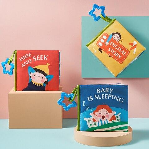 babygo bebe pano livro educacao precoce brinquedo 3d pano macio bebe historia livro bitable infantil