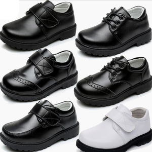 Boys Performance Costumes Fashion Brogue Shoes Genuine Leather Children Show Shoes Formal Flat Loafer Moccasins