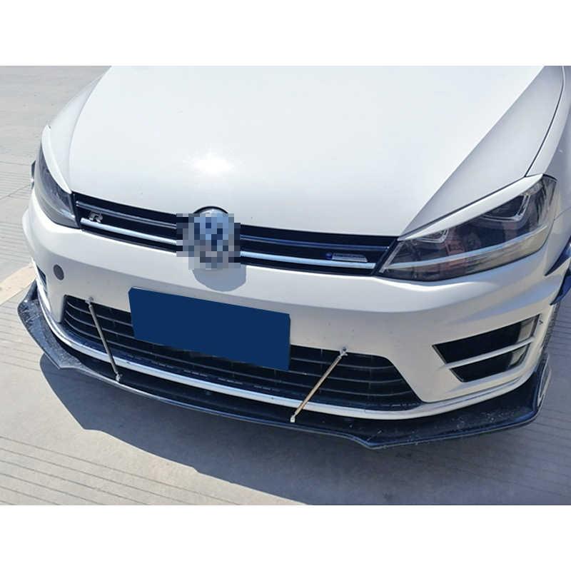 Pare-chocs avant Spoiler plaque de protection lèvre corps Kit carbone Surface décorative bande menton pelle pour Volkswagen Golf 7 6 7.5 Rline