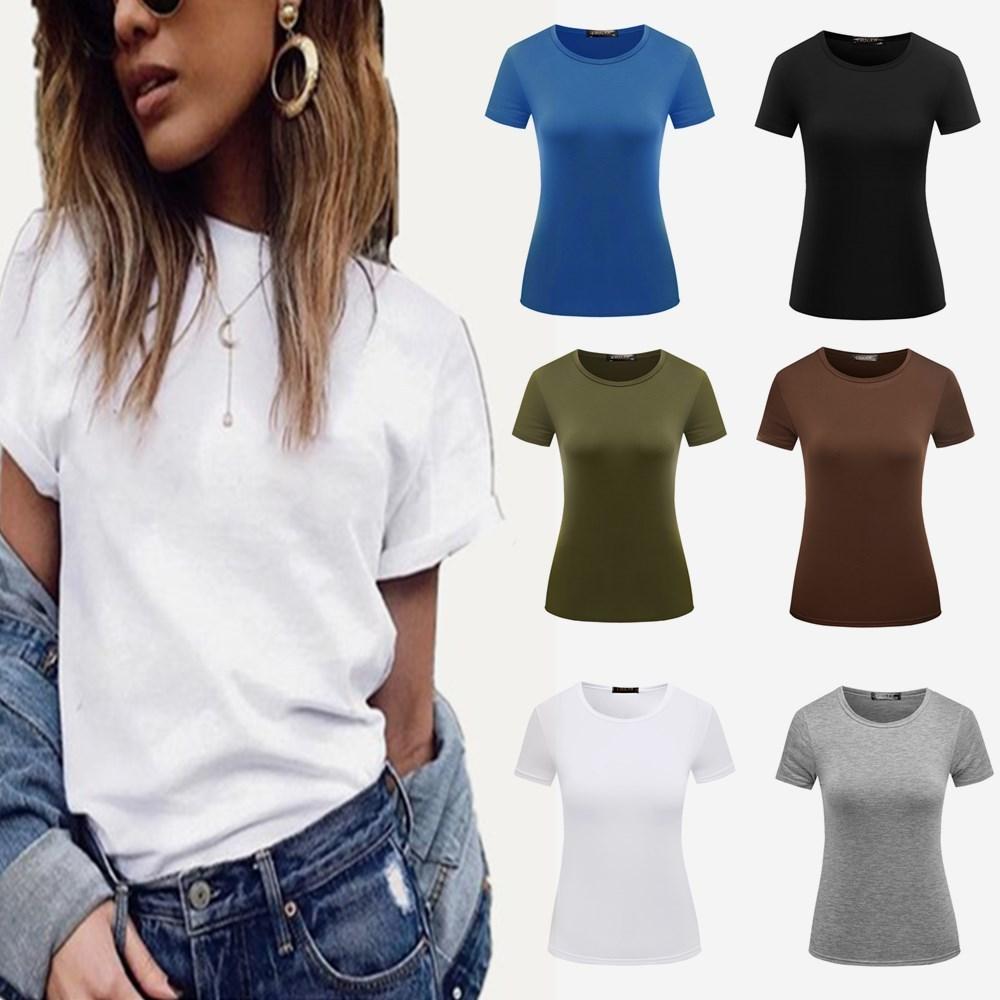 basic t shirts women's