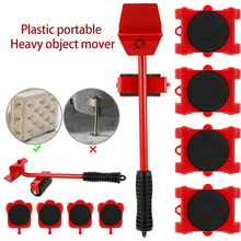 5PCS Professional Furniture Transport Lifter Tool Set Furniture Mover Wheel Bar Roller Device Heavy Stuffs Moving Hand Tools