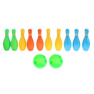 Kid Child Bowling Set 10 Pins 2 Balls Indoor Sport Game Toys