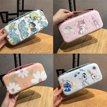 Kawaii Travel Carrying Storage Bag For Nintendo Nintend Switch Game Console Box Shell Cover Cute Cartoon Anime Protective Case eastvita portable game bags game storage case protective handle carry case cover zipper protective shell for nintend switch