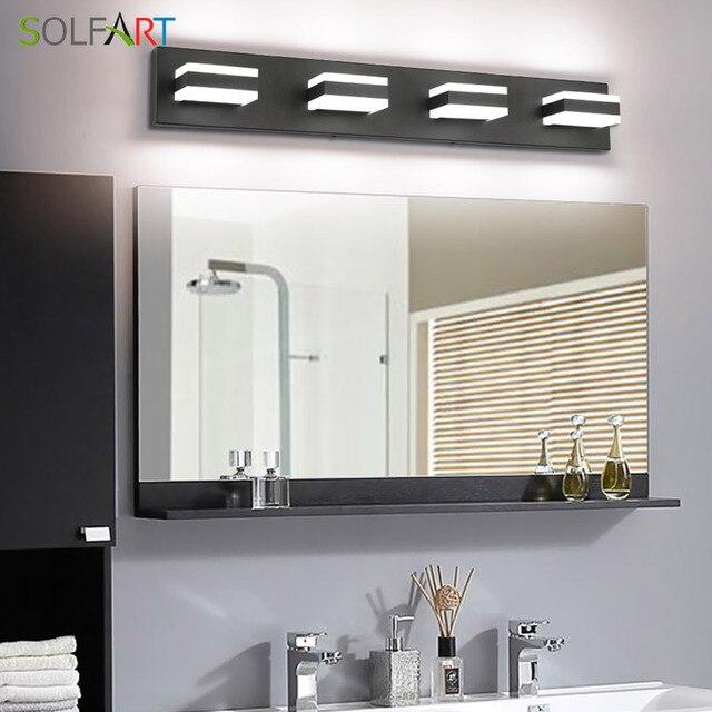 Modern Black Bathroom Vanity Lights Over Mirror 4 Lights Acrylic Bath Wall Lighting 5