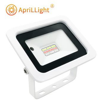 2020 Latest RGB Led Flood Light 20W 30W 50W 100W RGB Reflector Spotlight IP68 Waterproof Wall Washer Light 110V/220V Garden Lamp 30w outdoor wall washer garden yard park square building projector lamp led flood light