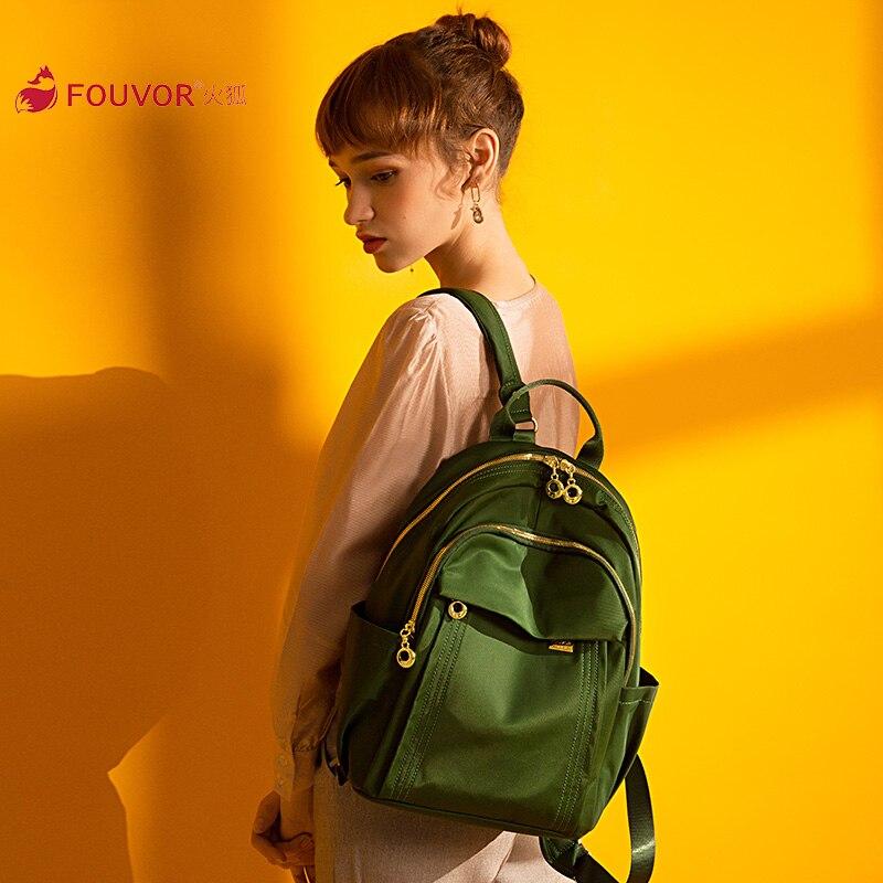 Fouvor 2019 Summer Women Nylon Messenger Bag Lager Solid Zipper Shoulder Bags 6013-03