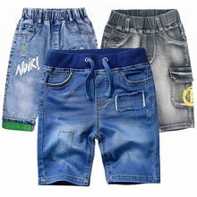 1-12T High Quality Summer Kids Shorts Boys Denim Trousers Jeans Cropped Pants boy short pants Baby clothing Children clothes