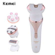 Kemei Epilator hair remover Electric Shaver Massager Tools Personal Care kit tool lady face brush machine cleanser for women цена и фото