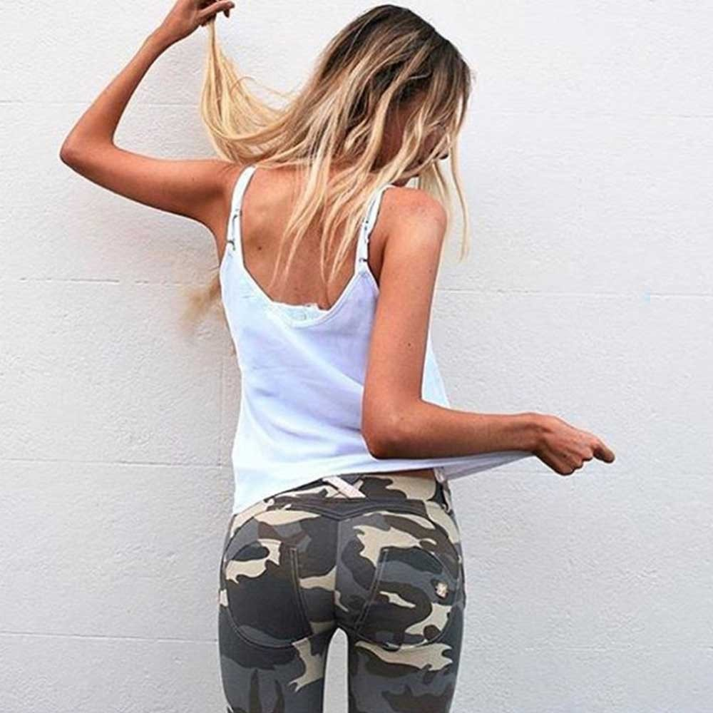 BEFORW Casual Camouflage Womens Leggins Printing Elasticity Leggings Camouflage Fitness Pant Sexy Skinny High Waist Legging