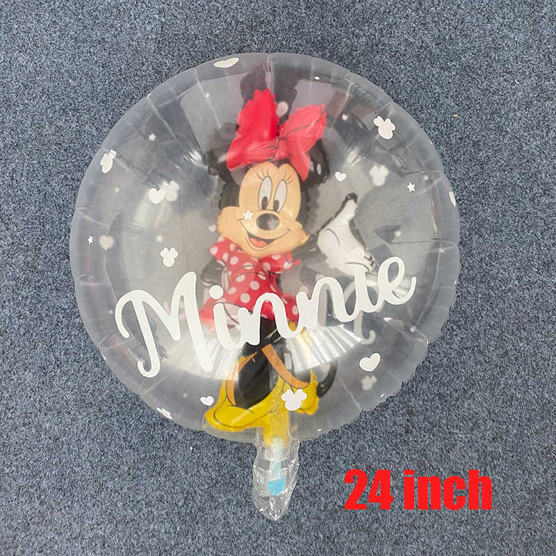 1 Pcs Mickey Minnie Transparante Ballonnen Mickey De Bal In De Bal Ballon Verjaardagsfeestje Decoraties Kids Speelgoed Globos