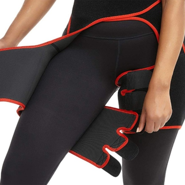 Slim Sweat Thigh Trimmer Leg Shapers Slender Slimming Belt Sweatband Shapewear Toned Muscles Band Thigh Slimmer Wrap 5