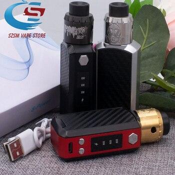 Original Electronic Cigarette 30-80W Vape Box Kits Temperature Control 1500mAh Battery Box Mod Kits VAPE E Cigarettes