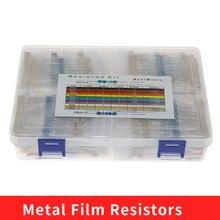 2600pcs/box 130 Values 1/4W 0.25W 1% Metal Film Resistors Assorted Pack Kit Set Lot Resistors Assortment Kits Fixed capacitors