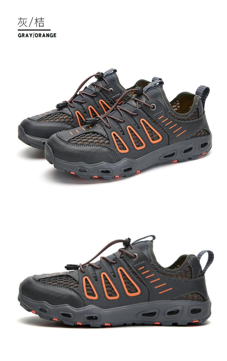 Descalço do aqua sapatos malha respirável natação