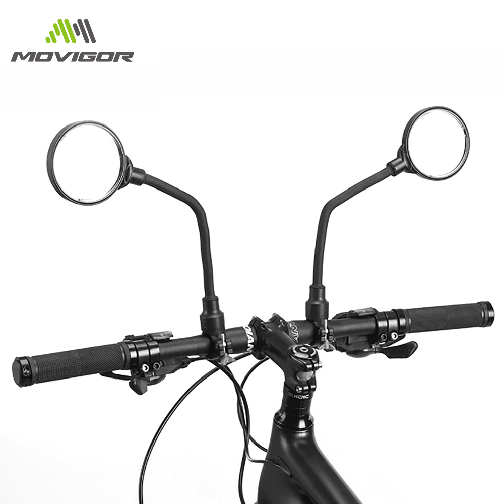 2PCS Mobility Scooter Handlebar Mirrors With Safety Reflector Useful Durable