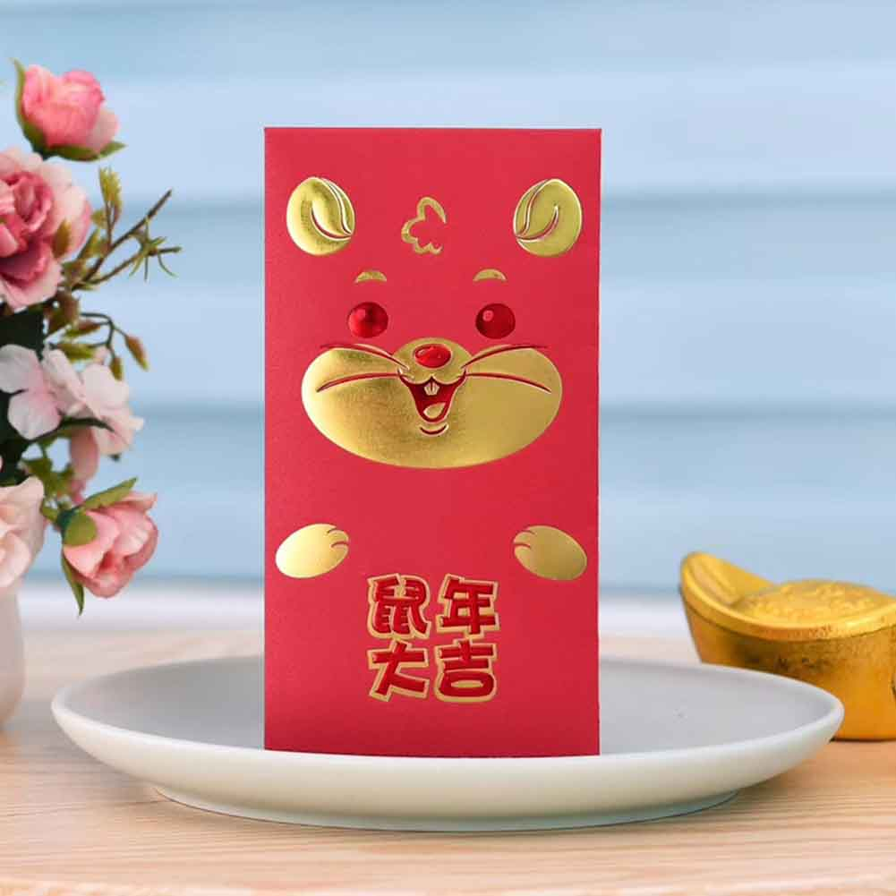 30pcs Rat Packet Red Envelopes Paper Thickened 2020 Chinese New Year Housewarming Cartoon Lucky Traditional Wedding Gift Cute