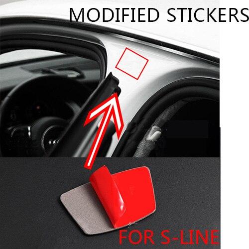 1 шт., декоративная наклейка из углеродного волокна для Audi A6 C6 C7 A1 A3 A4 B5 B6 B7 B8 A5 C5 A7 TT Q3 Q2 Q5 Q7 quattro