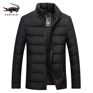 Image 1 - Mens White Duck Down Jacket Winter Slim Hooded Down Coat Selected Feather Clothing  for Men 9231 New 2019