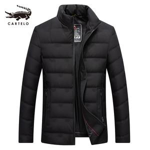 Image 1 - ผู้ชายเป็ดสีขาวลงเสื้อแจ็คเก็ตฤดูหนาว Slim Hooded Down Coat Selected Feather เสื้อผ้าสำหรับชาย 9231 ใหม่ 2019