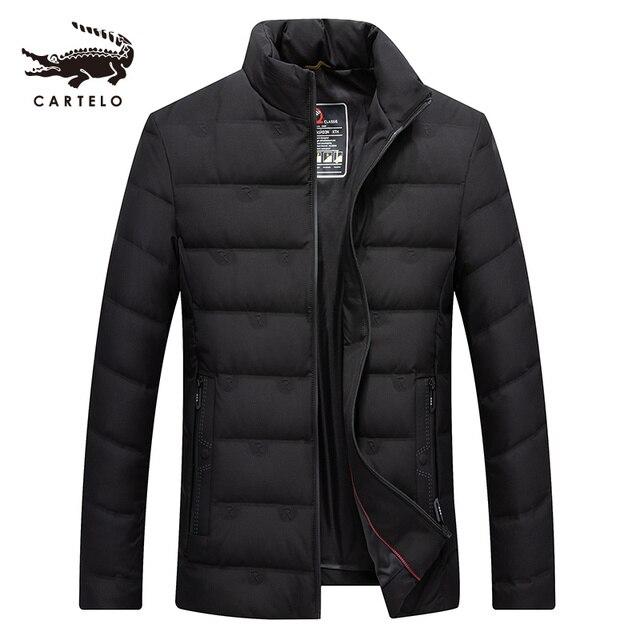 ผู้ชายเป็ดสีขาวลงเสื้อแจ็คเก็ตฤดูหนาว Slim Hooded Down Coat Selected Feather เสื้อผ้าสำหรับชาย 9231 ใหม่ 2019