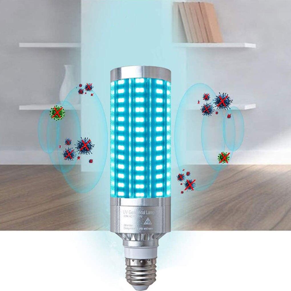 60W UV Germicidal Lamp Ozone UVC Ultraviolet Led Corn Bulb Disinfection Sterilizer  Ozone Lights For Home Bedroom