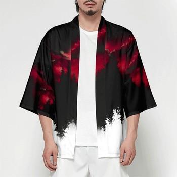 Japanese Kimono Cardigan Mens Kimono Shirt Plus Size Men Casual Streetwear Men Samurai Costume Clothing Kimono Jacket 3XL 4XL недорого