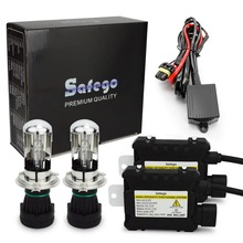 Safego H4 9003 9008 Bixenon Hid Kit 35 W/55 W Hi/Lo Beam Bi Xenon Koplamp lampen + Relais Harnas + Digitale Slim Ballast