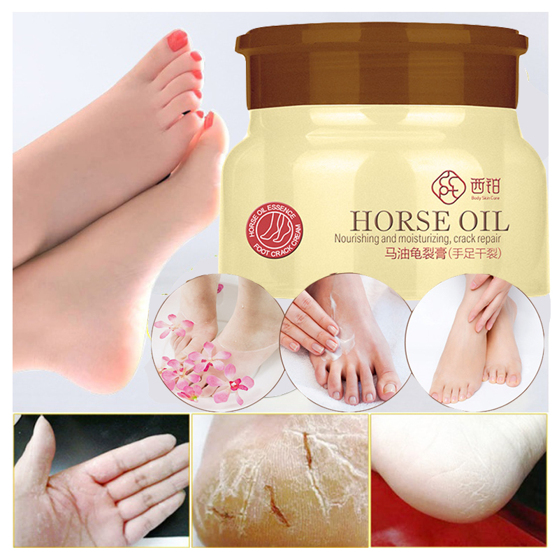 80g Horse Oil Foot Cream Heel Cream For Feet Mask Itch Blisters Anti Chapping Peeling for Foot Cream Care 6