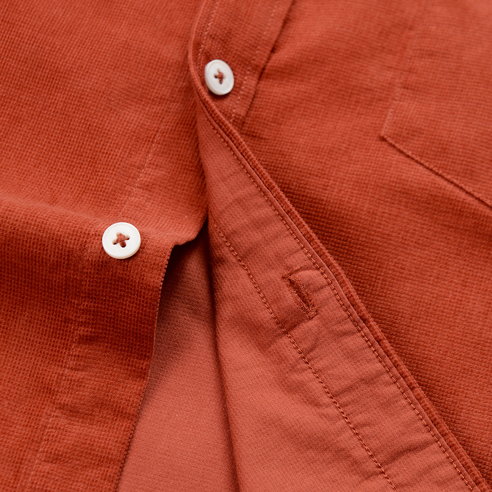 Casual Mens Corduroy Shirt Pure Cotton Long Sleeve Brown Thick Winter XXL Regular Fit New Model Male Button Down Shirts 4