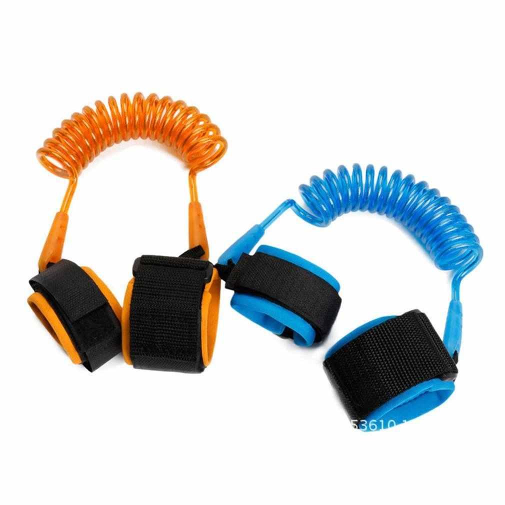 1.5m ajustável crianças segurança anti-perdido pulso link banda pulseira pulseira segura para bebê chicote de fios correia corda trela