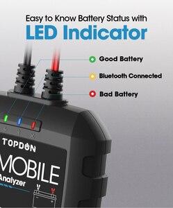 Image 2 - TOPDON جهاز اختبار بطارية السيارة مع Bluetooth ، جهاز اختبار بطارية السيارة ، بلوتوث ، 12 فولت ، لاسلكي ، مراقب بطارية 100 إلى 2000CCA ، شاحن تلقائي ، أداة تحليل كرنك